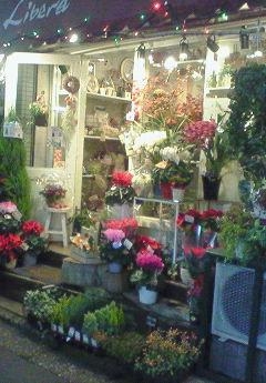 花屋の店先に並んだ